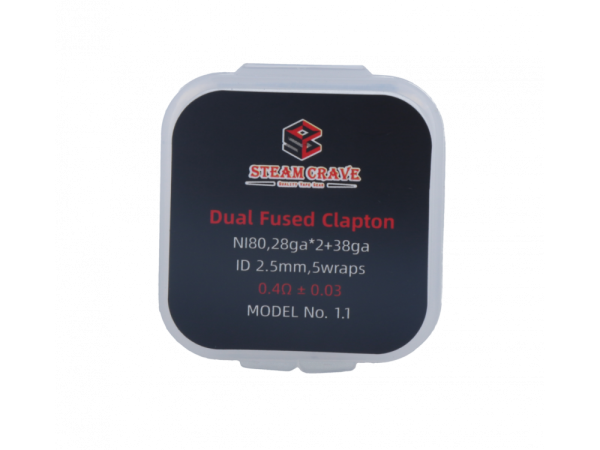 Steam Crave Dual Fused Clapton Coil (10 Stück pro Packung)